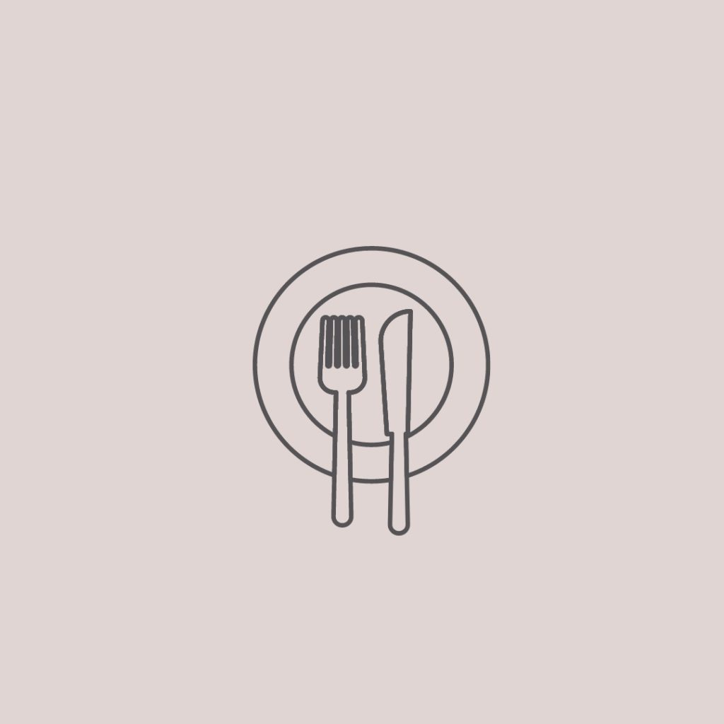 Essstoerung_Zeichnung von Messer und Gabel auf einem Teller
