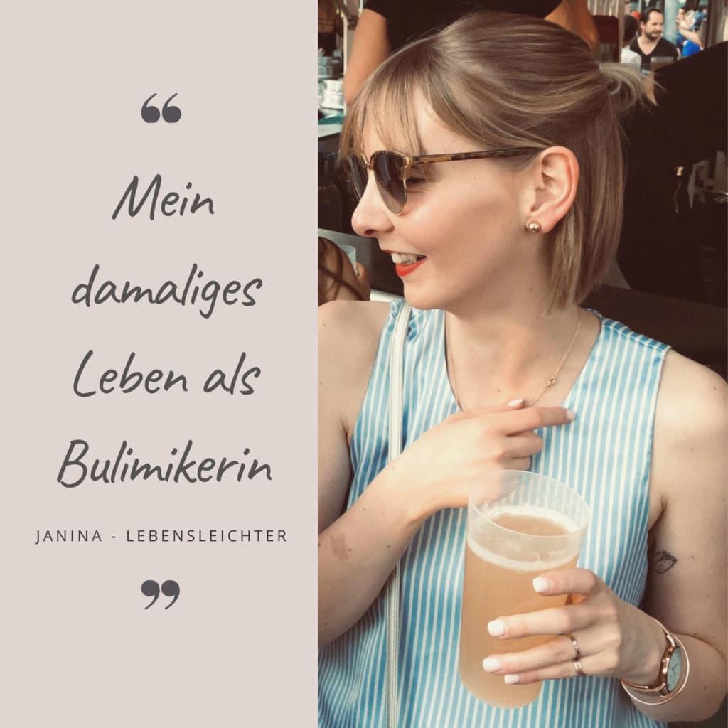 Mein damaliges Leben als Bulimikerin_Janina mit einem Getränk in der Hand